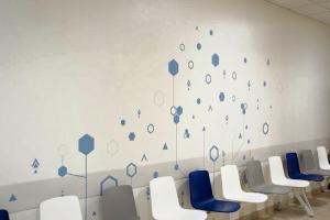 Décoration adhésive salle d'attente
