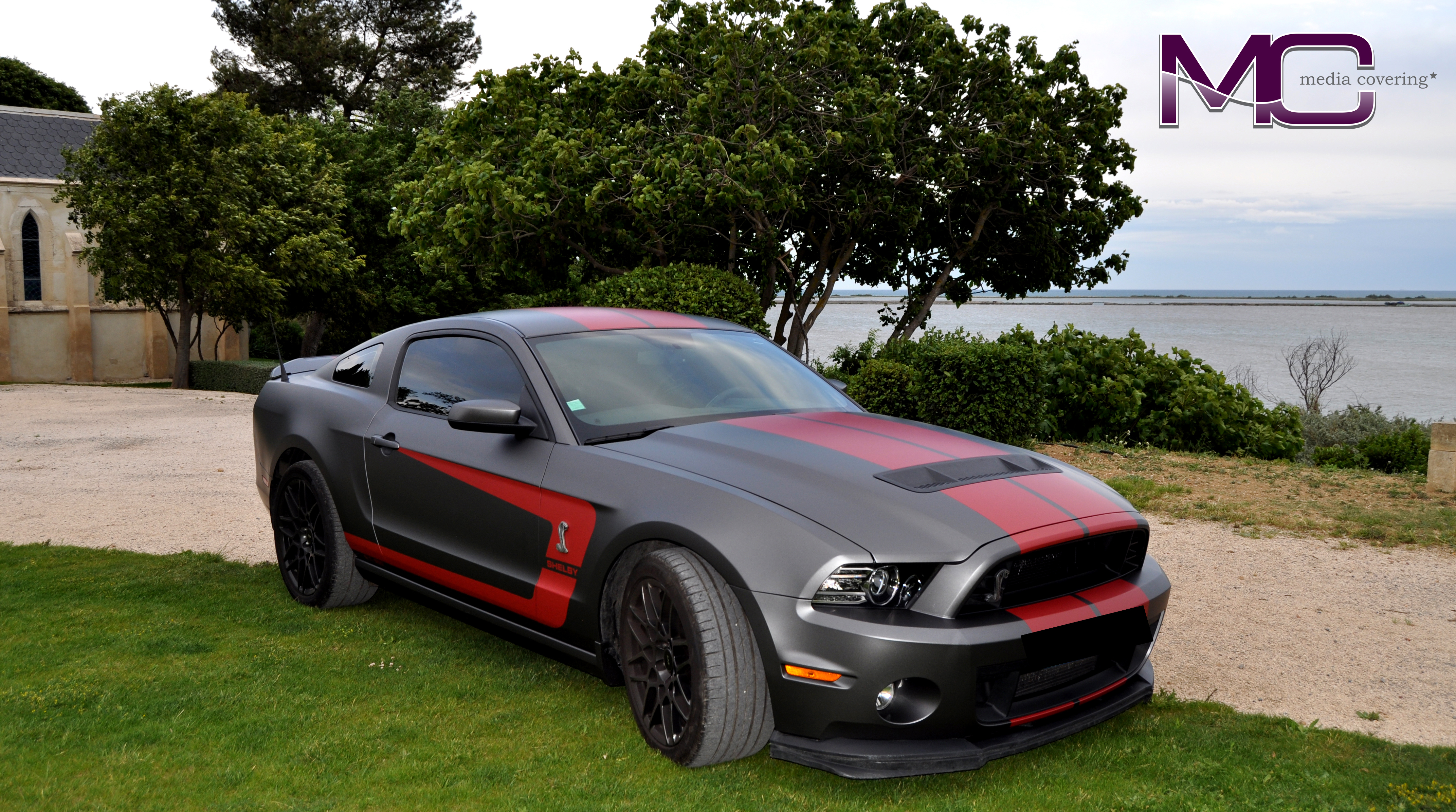 Mustang avant + logo